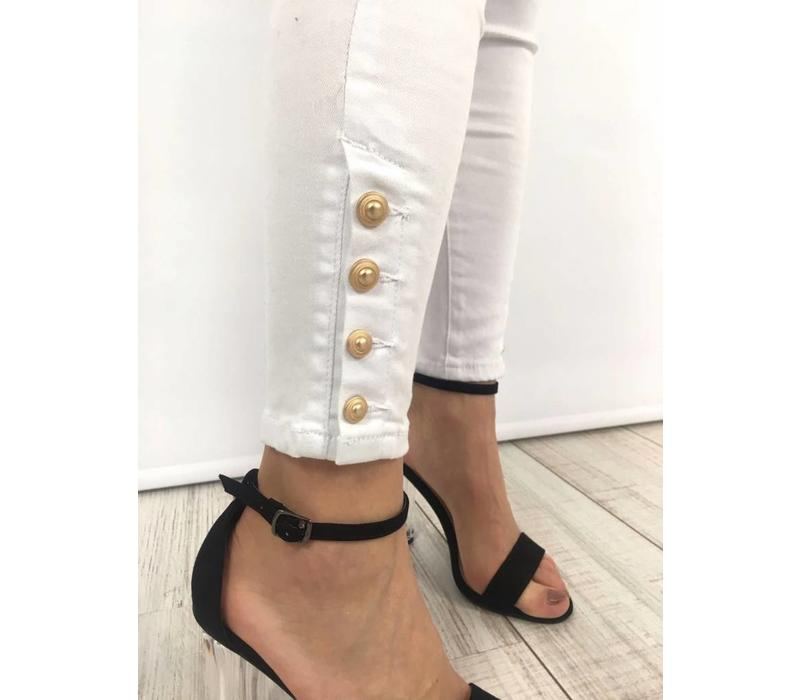 Jeans Gold Button WH