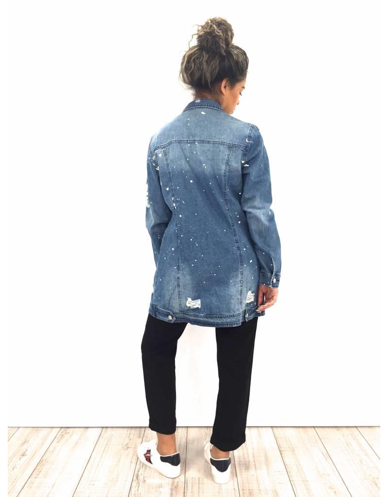 Denim Jacket paint SHK Paris