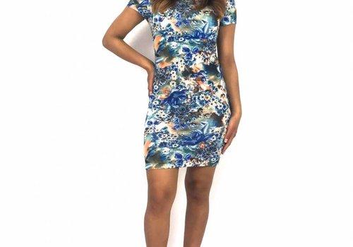 SHK Flower dress royal blue