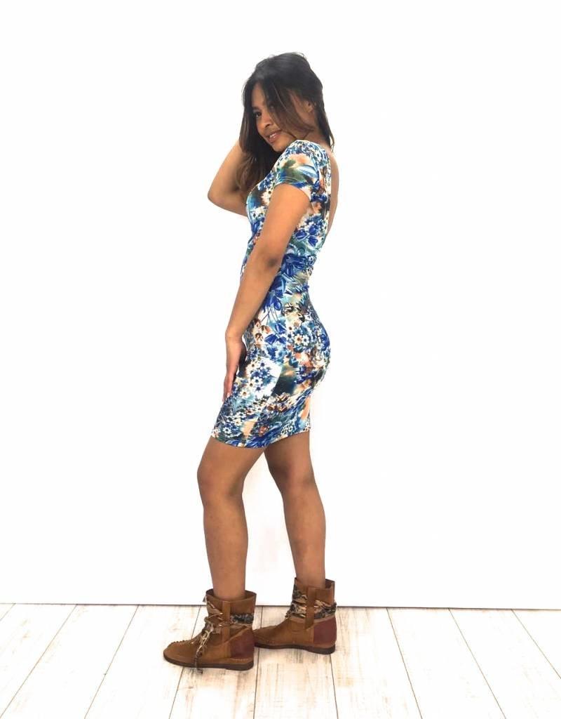 Flower Dress Royal Blue M-12