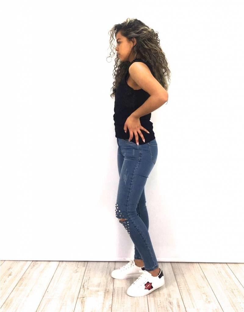 Jeans studs knee VS MISS