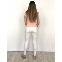 Skinny jeans ripped white 9079-B1