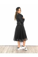 leather look jacket black
