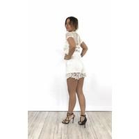 Playsuit white lace V483
