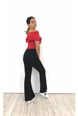 Pants flare black