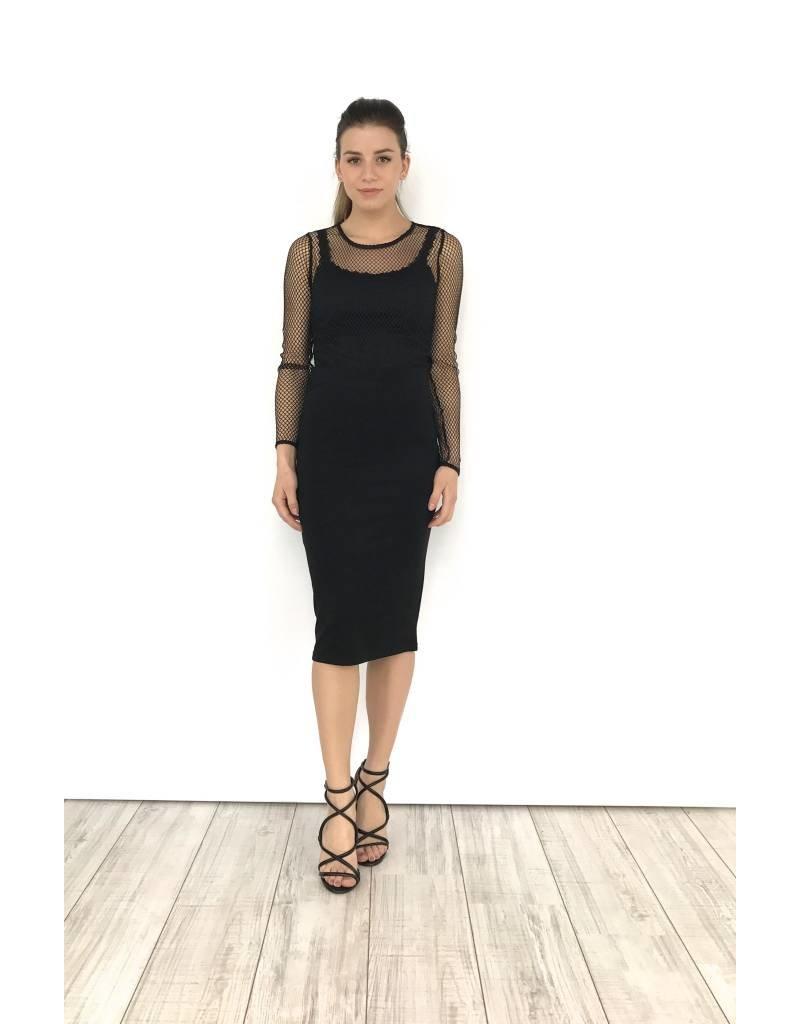Black lace top 21708