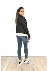 Leather jacket black ZD16031