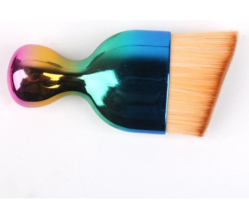 S Shape make-up brush rainbow