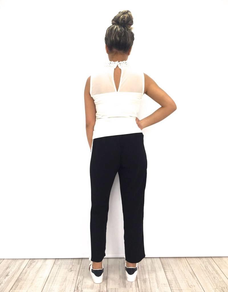 Pantalon Black Ecru stripe