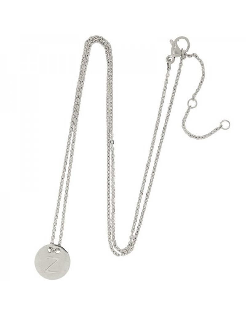 Necklace coin Z -silver-