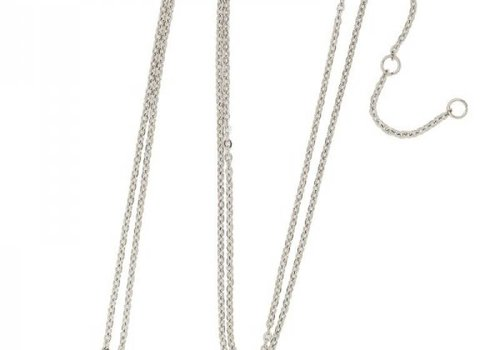 Necklace coin W -silver-