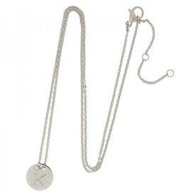 Necklace coin K -silver-