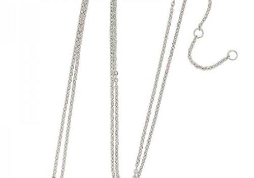 Necklace coin X -silver