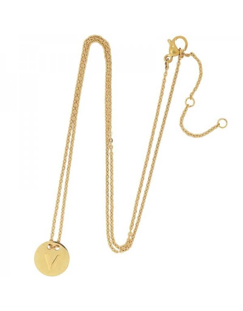 Necklace coin V -gold-