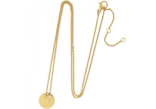 Necklace coin W -gold-