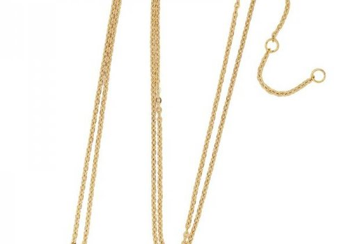 Necklace coin U -gold-