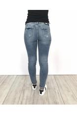 Jeans white/blue spots 6279