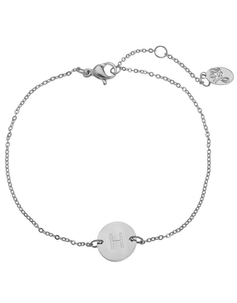 Armband coin H -silver-
