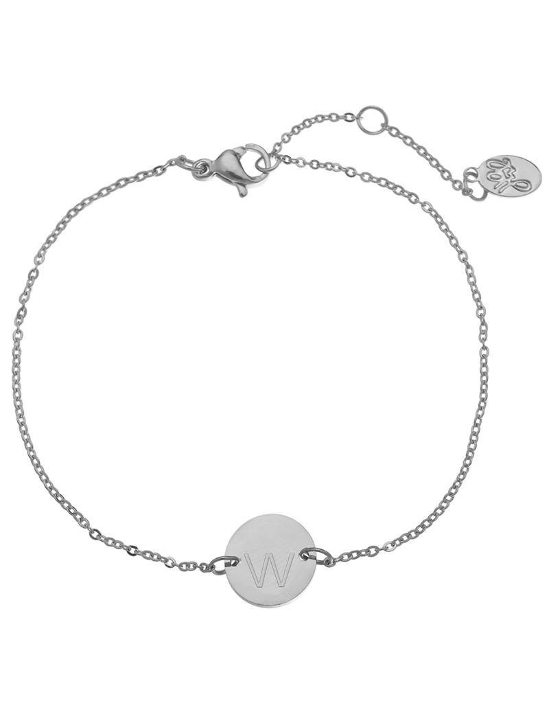Armband coin W -silver-