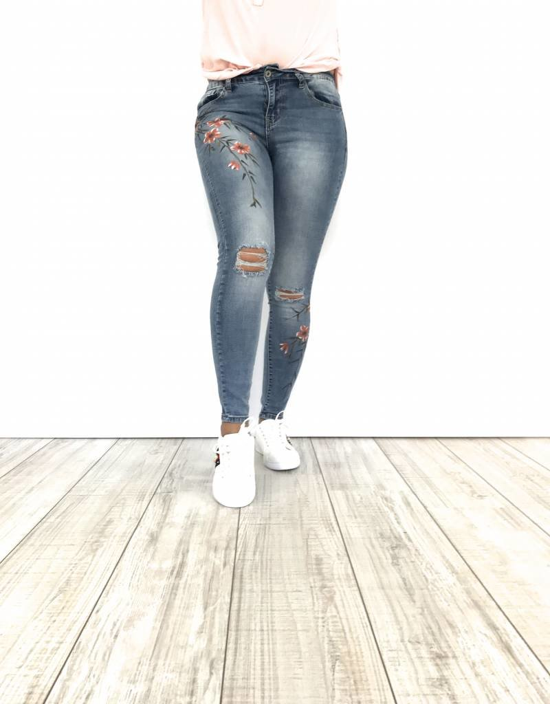 Jeans flowers RD6095