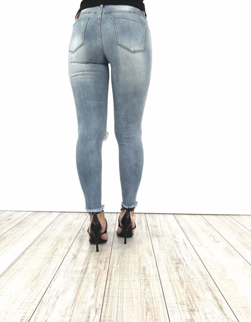 Jeans ripped knees 211-1
