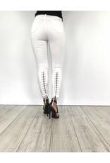 White jeans lace back 9177.B