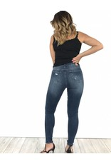Blue ripped jean knee skinny high waist 9170