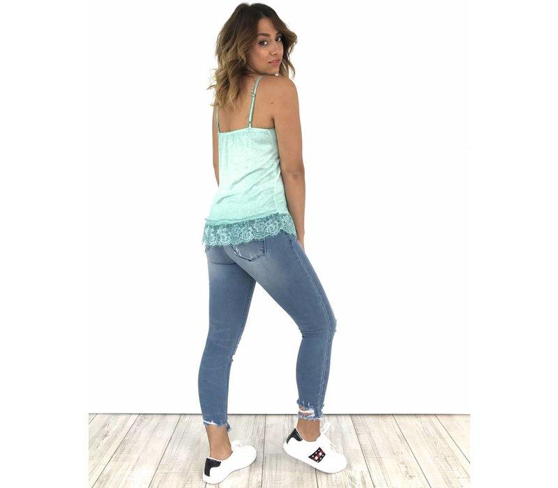 Jeans skinny crop Fray Hem