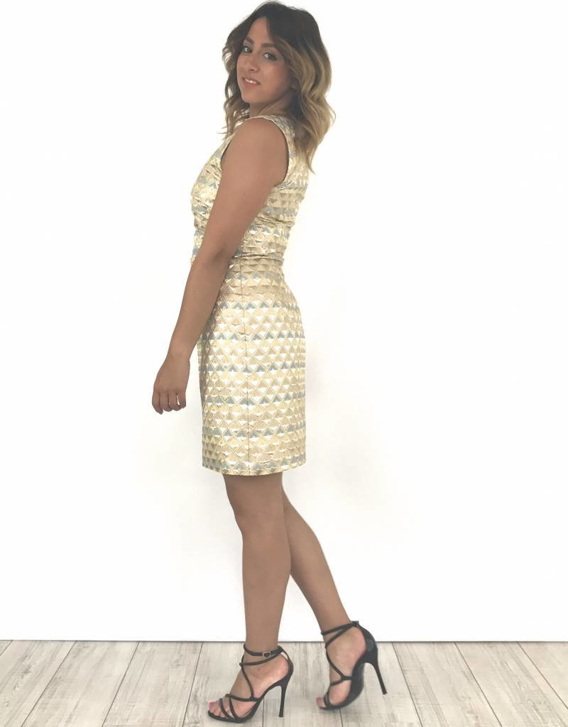 Blue/Gold dress 52301