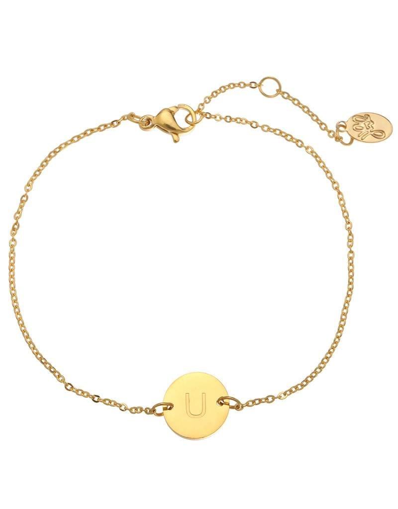 Armband coin U -gold-