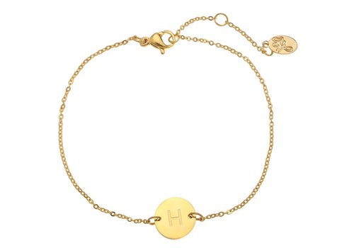 Armband coin H -gold-