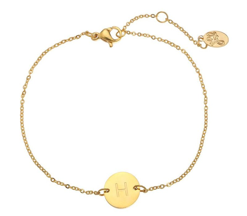 Armband coin H -gold-