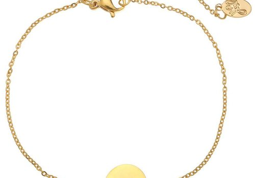 Armband coin W -gold-