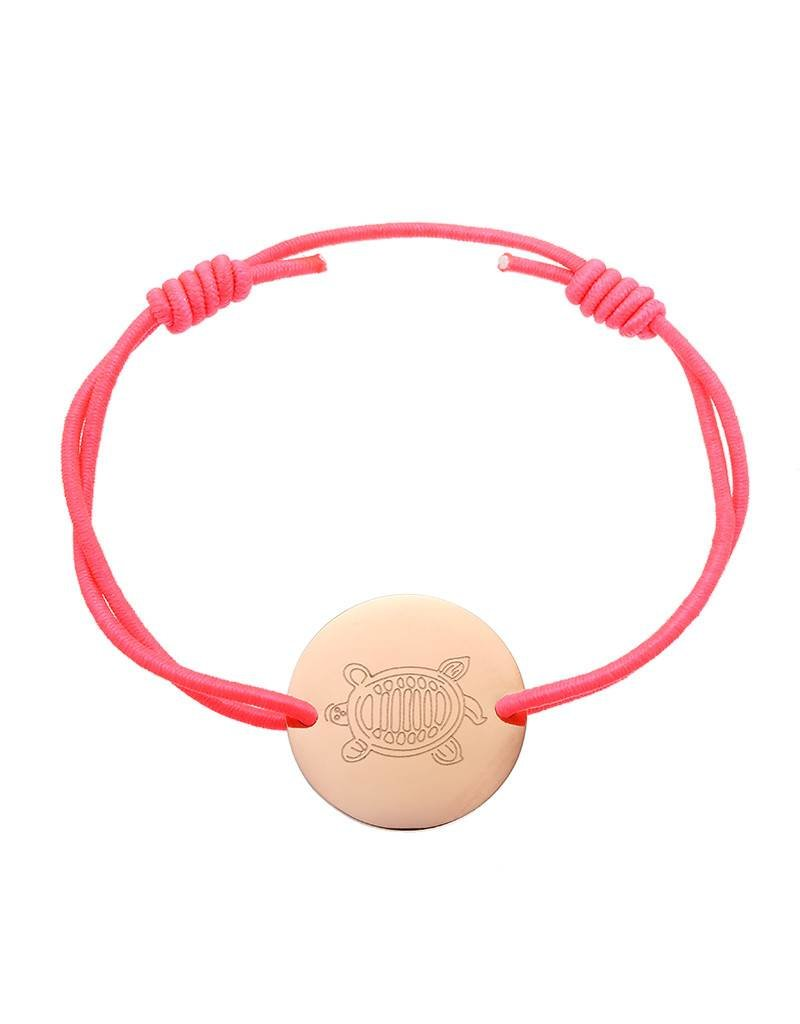 Armband sea turtle pink