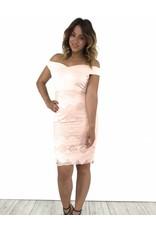 Pink dress off shoulder lace 51953 17Y