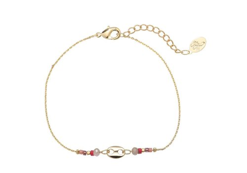 Armband divided beads gold