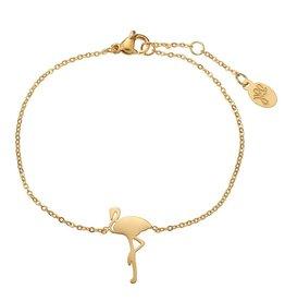 Armband flamingo gold