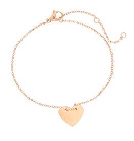 Armband big heart koper