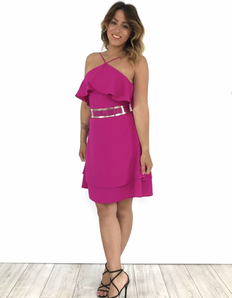 Dress fucsia volant 52324 17Y