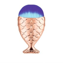 Mermaid makeup brush rose gold