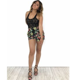 Black short flowers 1309