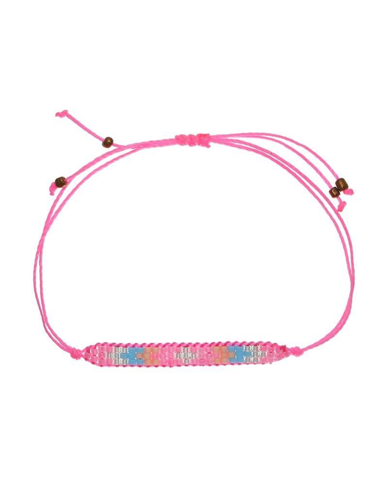 Armband little beads pink