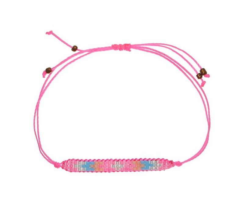 Armband little beads pink