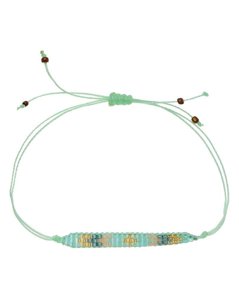 Armband little beads mint green