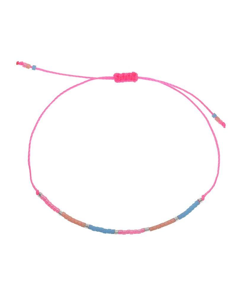 Armband spring beads pink