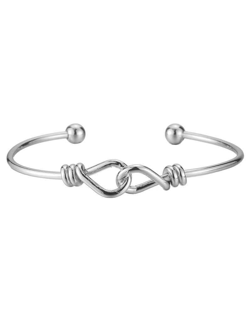 Armband abstract knots silver