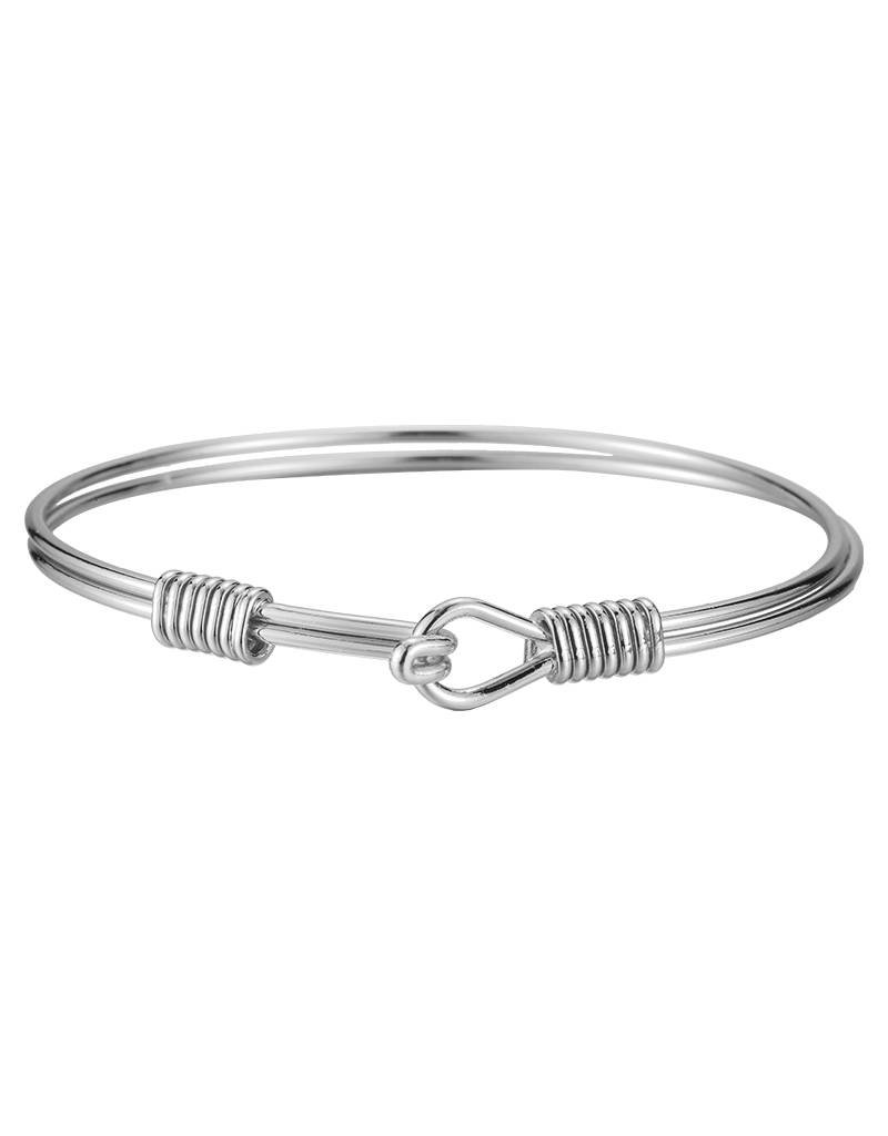 Armband closed knot silver