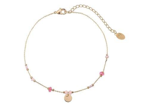 Enkelbandje tiny beads & circle