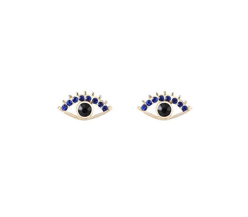 Oorbellen sparkly eye gold
