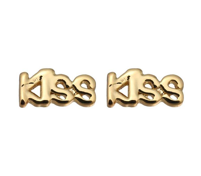 Oorbellen kiss gold